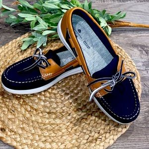 Clarks Navy marine cloudsteppers boat shoes size 8